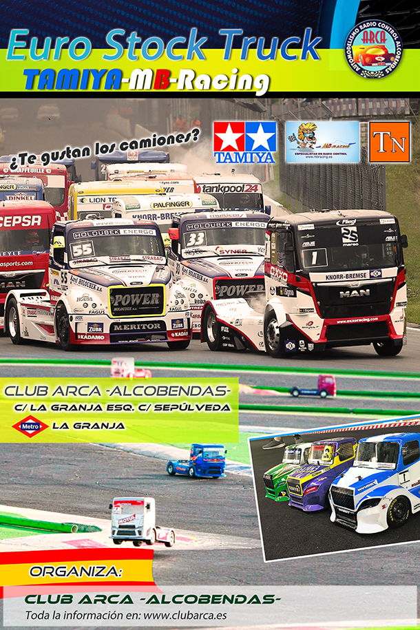 Cartel I Cto. Euro Stock Truck Tamiya MB Racing web